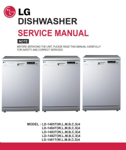 LG LD-1482W4 Dishwasher Service Manual and Troubleshooting Guide | eBooks | Technical