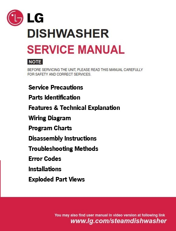 lg ldf6810st dishwasher service manual and troubleshooting guide rh store payloadz com LG LDF6810ST Door Spring Repair LG Dishwasher LDS5811ST
