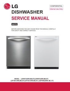 lg ldf7561st dishwasher service manual and troubleshooting guide