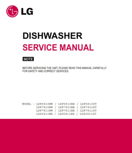 lg ldf7810st dishwasher service manual and troubleshooting guide