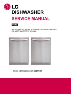 lg ldf7932st dishwasher service manual and troubleshooting guide