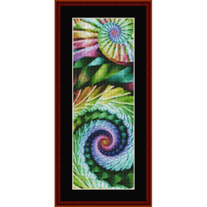 Fractal 655 Bookmark by Cross Stitch Collectibles. | Crafting | Cross-Stitch | Other