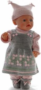 DollKnittingPatterns 0190D STELLA - Seleskjørt, genser, strømpebukse, lue og sokker-(Norsk) | Crafting | Knitting | Other
