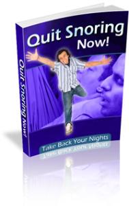 quit snuring