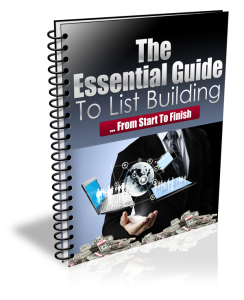 Essential Guide To List Building | eBooks | Business and Money