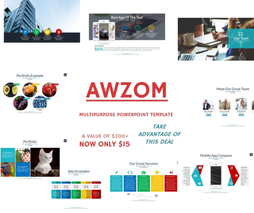 First Additional product image for - Awzom Multipurpose Powerpoint Template
