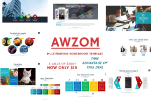 awzom multipurpose powerpoint template