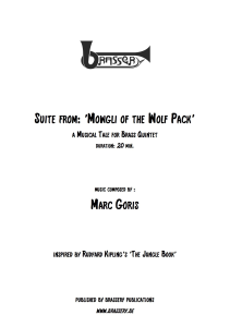 Suite from: 'Mowgli of the Wolf Pack'  for brass quintet | Music | Instrumental