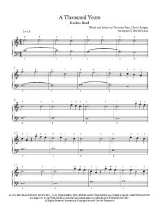 A Thousand Years Piano | eBooks | Music