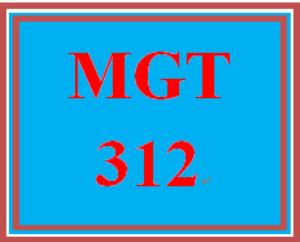 MGT 312 Week 2 Type A/Type B | eBooks | Education