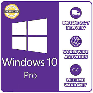 genuine microsoft windows 10 pro 32/64 bit full version + fast delivery