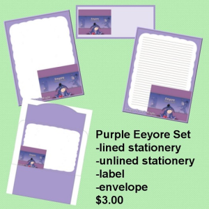purple eeyore set