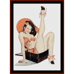 Pin-Up in a Box - Vintage Poster cross stitch pattern by Cross Stitch Collectibles | Crafting | Cross-Stitch | Other