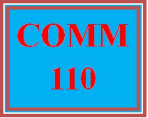 comm 110 week 1 fear of public speaking?
