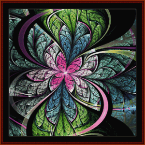 fractal 678 cross stitch pattern by cross stitch collectibles