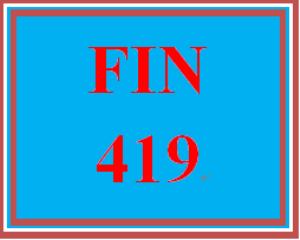fin 419 week 4 stocks