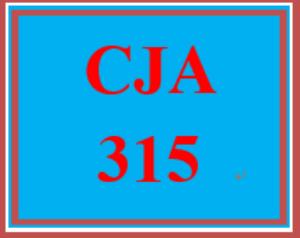 CJA 315 Entire Course | eBooks | Education