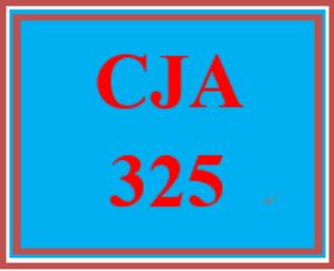cja 325 week 5 learning team review