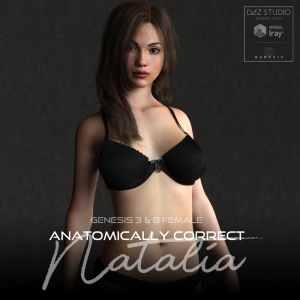 anatomically correct: natalia for genesis 3 and genesis 8 female