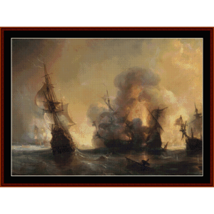 battle of lagos - custom pattern by cross stitch collectibles