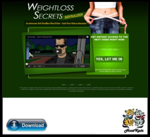 weight loss wordpress video squeeze page