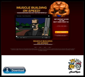 Muscle Building WordPress Video Squeeze Page | Software | Design Templates