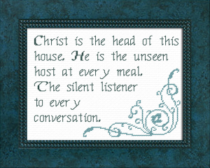Unseen Host | Crafting | Cross-Stitch | Religious