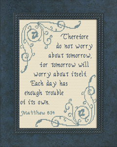 Do Not Worry | Crafting | Cross-Stitch | Religious