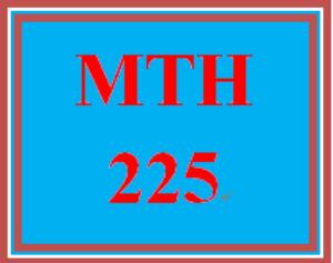 MTH 225 Week 5 Study Plan | eBooks | Education