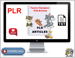 Tennis Champion PLR Articles | eBooks | Business and Money
