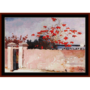 wall in nassau - winslow homer cross stitch pattern by cross stitch collectibles