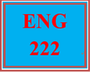 eng 222 week 5 final project: student manual