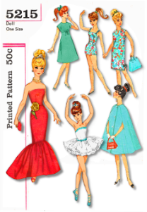 barbie doll clothes pdf # 5215 mermaid gown  tutu swim suit dresses cape