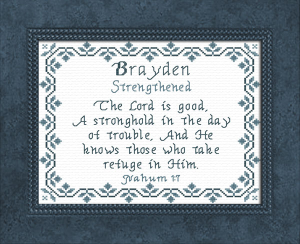 Name Blessings -  Brayden | Crafting | Cross-Stitch | Religious