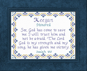 Name Blessings -  Keegan | Crafting | Cross-Stitch | Religious