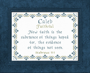 Name Blessings -  Caleb 5 | Crafting | Cross-Stitch | Religious