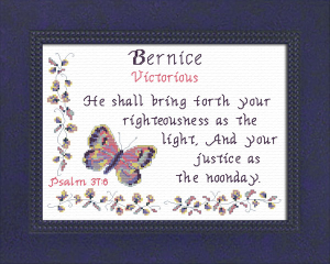 Name Blessings -  Bernice | Crafting | Cross-Stitch | Religious