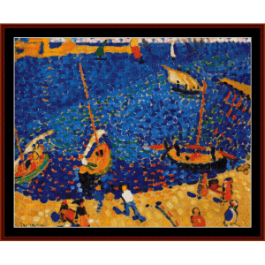 boats at coulliour - derain cross stitch pattern by cross stitch collectibles