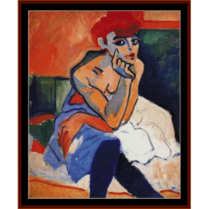 the dancer - derain cross stitch pattern by cross stitch collectibles