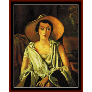 madame guillaume - derain cross stitch pattern by cross stitch collectibles