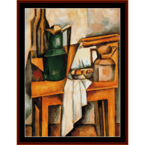 still life, 1910 - derain cross stitch pattern by cross stitch collectibles