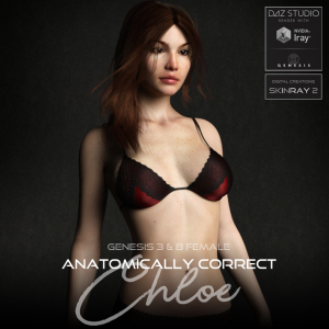 Anatomically Correct: Chloe for Genesis 3 and Genesis 8 Female | Software | Design