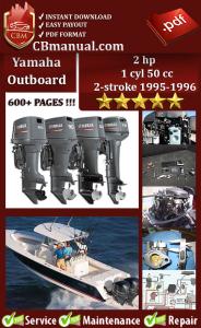 yamaha outboard 2 hp 1 cyl 50 cc 2-stroke 1995-1996 service manual