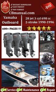 yamaha outboard 28 jet 3 cyl 698 cc 2-stroke 1990-1996 service manual