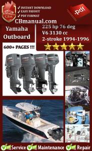 yamaha outboard 225 hp 76 deg v6 3130 cc 2-stroke 1994-1996 service manual
