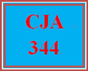 CJA 344 Week 1 Biography | eBooks | Education