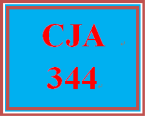 CJA 344 Week 1 Summary | eBooks | Education