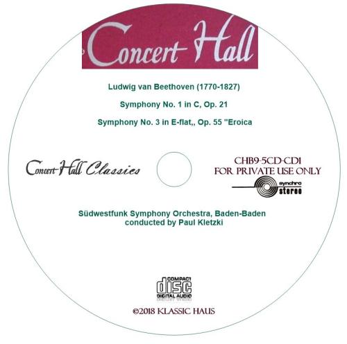 Third Additional product image for - Beethoven: Symphonies No. 1 & 3 - Südwestfunk Symphony Orchestra, Baden-Baden/Paul Kletzki