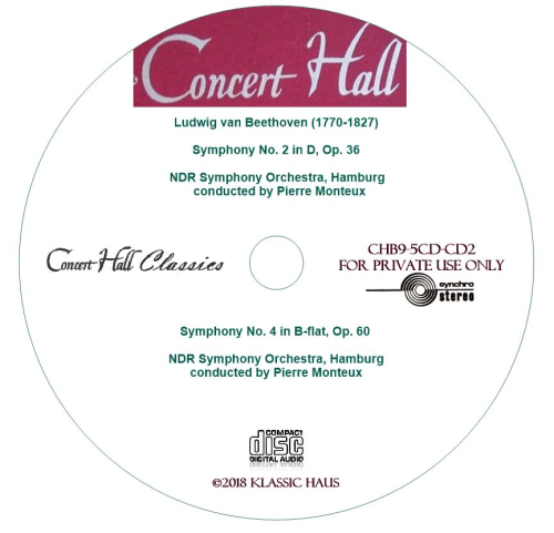 Third Additional product image for - Beethoven: Symphonies No. 2 & 4 - NDR Symphony Orchestra, Hamburg/Pierre Monteux
