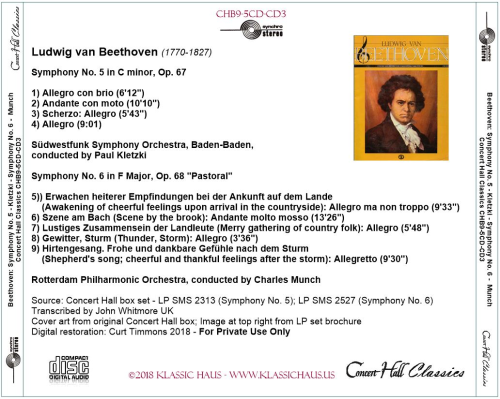 First Additional product image for - Beethoven: Symphonies No. 5 & 6 - Paul Kletzki/Charles Munch